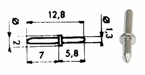code l051 picot rond picot plat cosse poignard. Black Bedroom Furniture Sets. Home Design Ideas